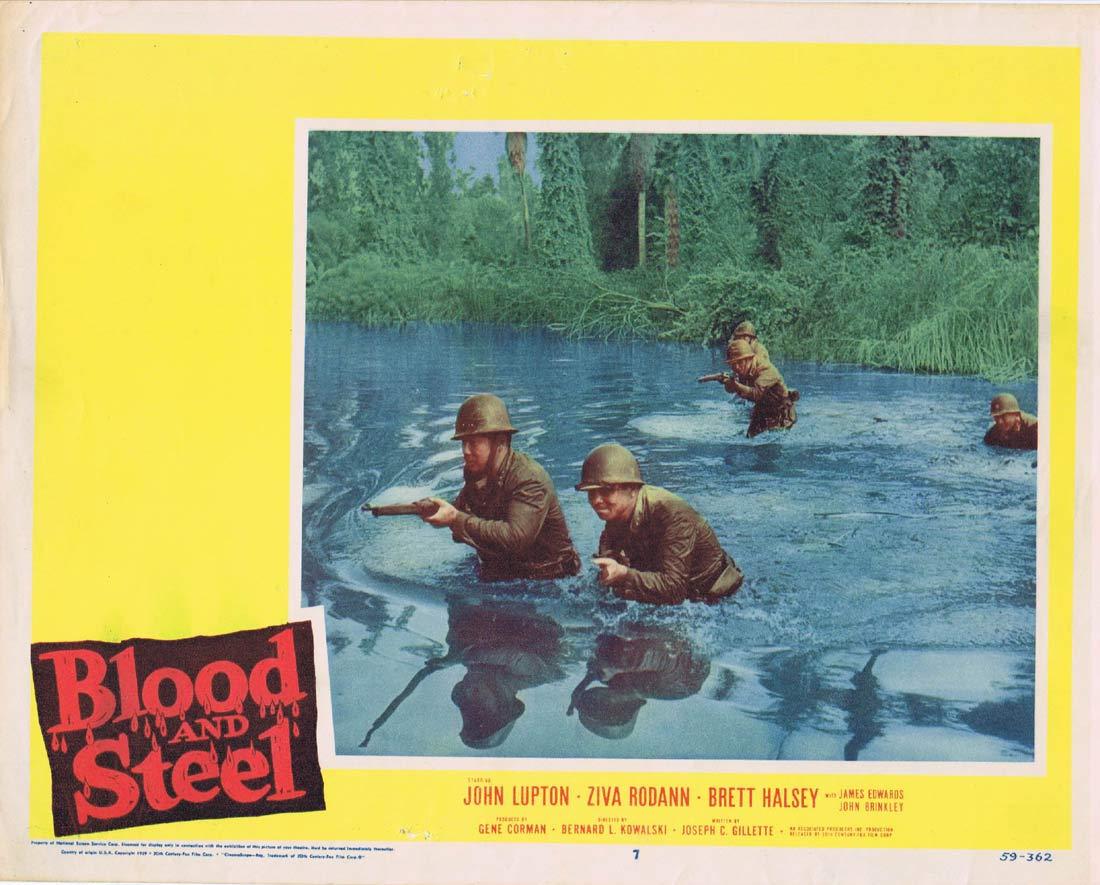 BLOOD AND STEEL Original Lobby Card 7 John Lupton James Edwards