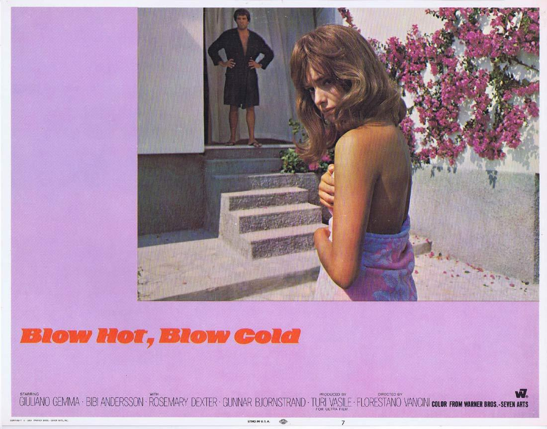 BLOW HOT BLOW COLD Original Lobby Card 7 Giuliano Gemma Bibi Andersson