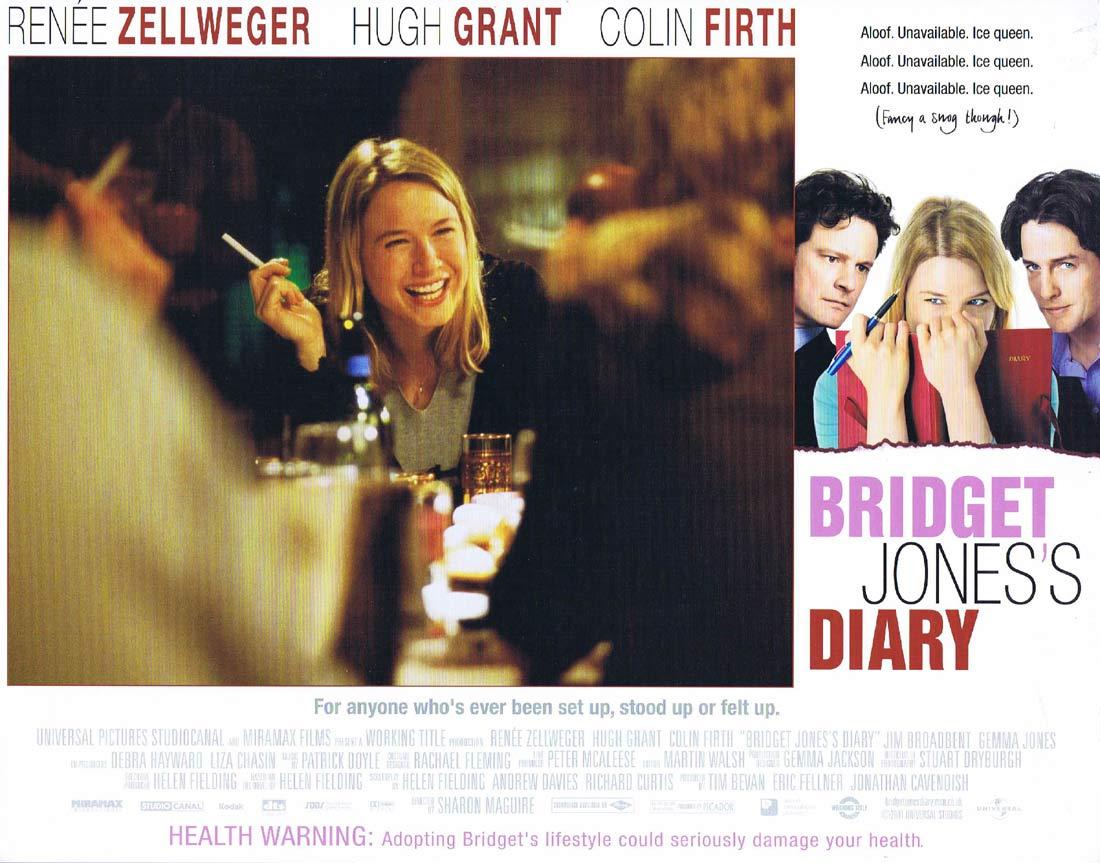 BRIDGET JONES'S DIARY Original Lobby Card Renée Zellweger Gemma Jones