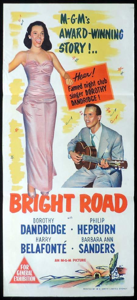 BRIGHT ROAD Movie Poster 1957 Dorothy Dandridge Australian Daybill