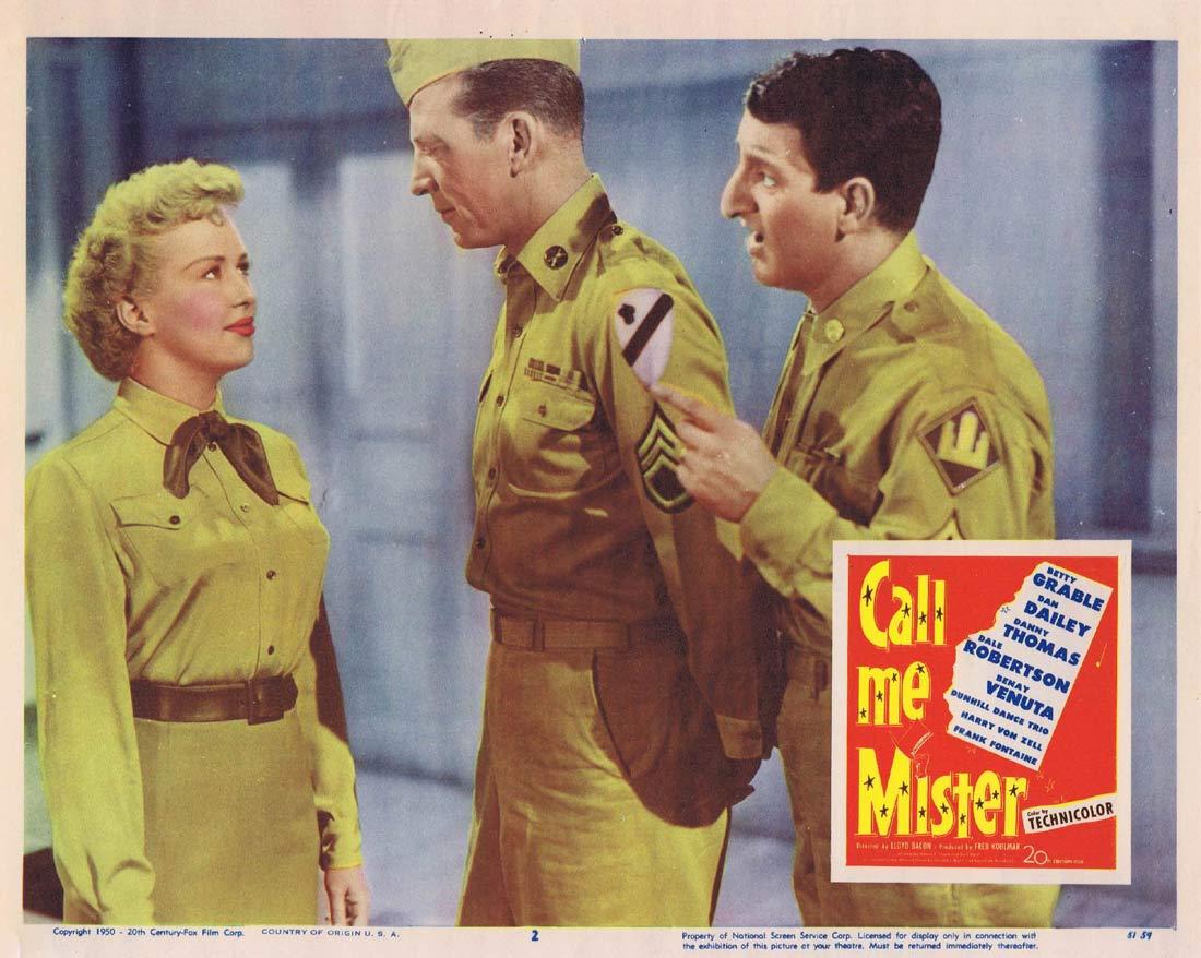 CALL ME MISTER Lobby Card 2 Betty Grable Dan Dailey