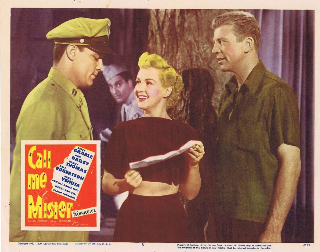 CALL ME MISTER Lobby Card 3 Betty Grable Dan Dailey