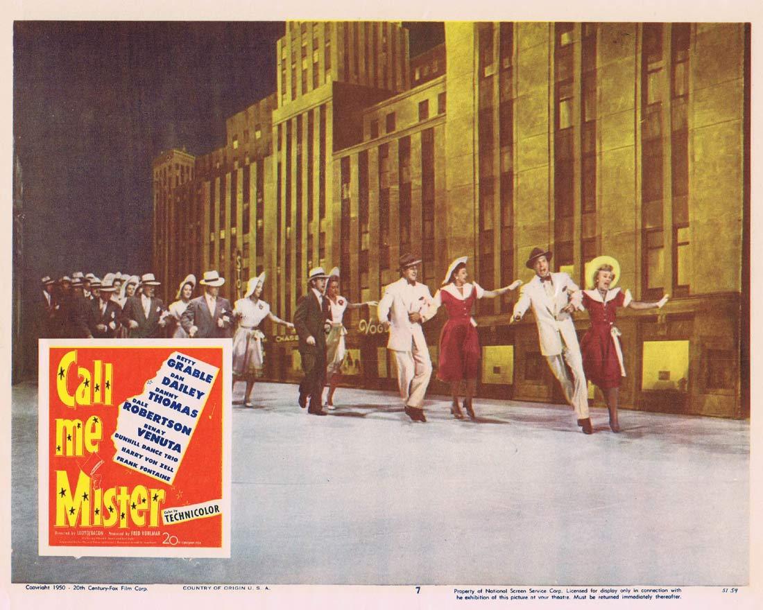CALL ME MISTER Lobby Card 7 Betty Grable Dan Dailey
