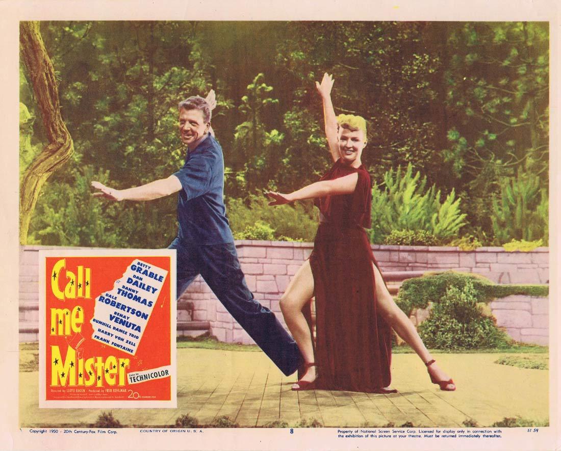 CALL ME MISTER Lobby Card 8 Betty Grable Dan Dailey