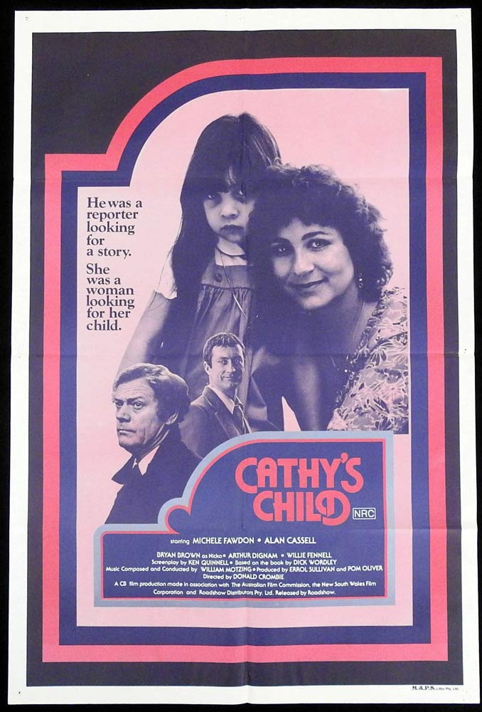 CATHY'S CHILD Original One sheet Movie Poster Michele Fawdon Alan Cassell