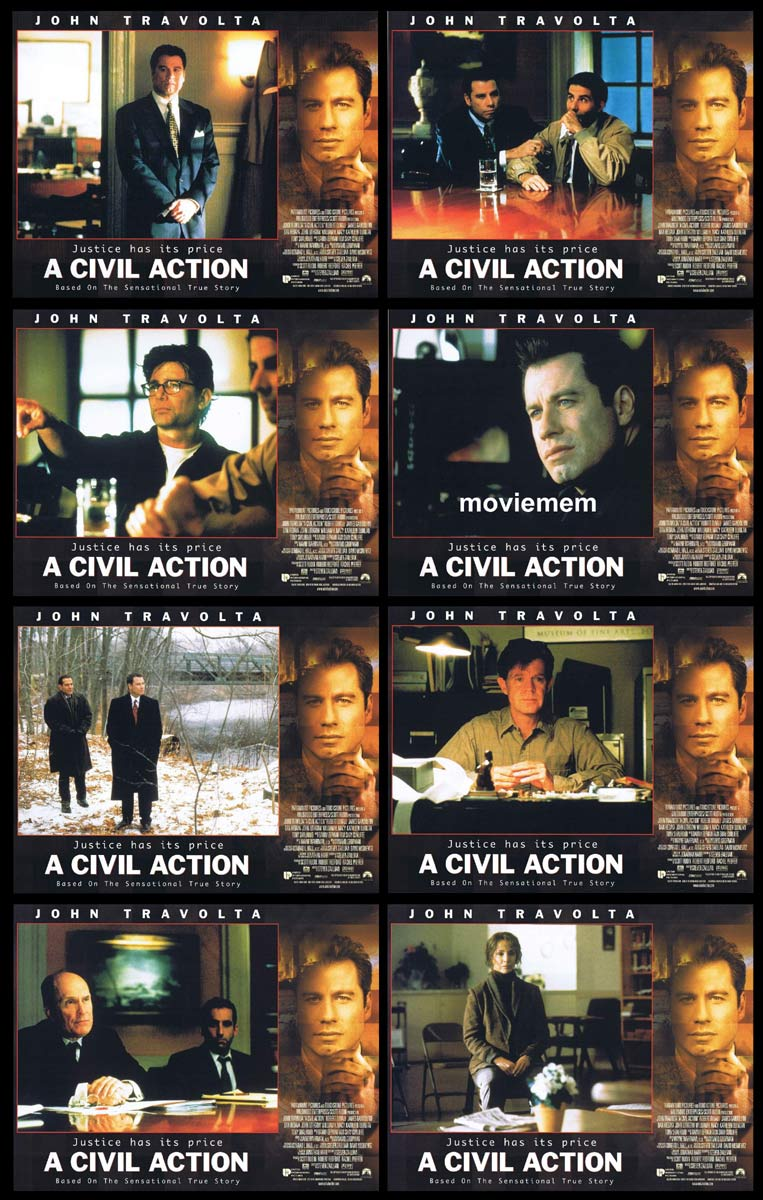 A CIVIL ACTION Original Lobby Card Set  John Travolta Robert Duvall Tony Shalhoub