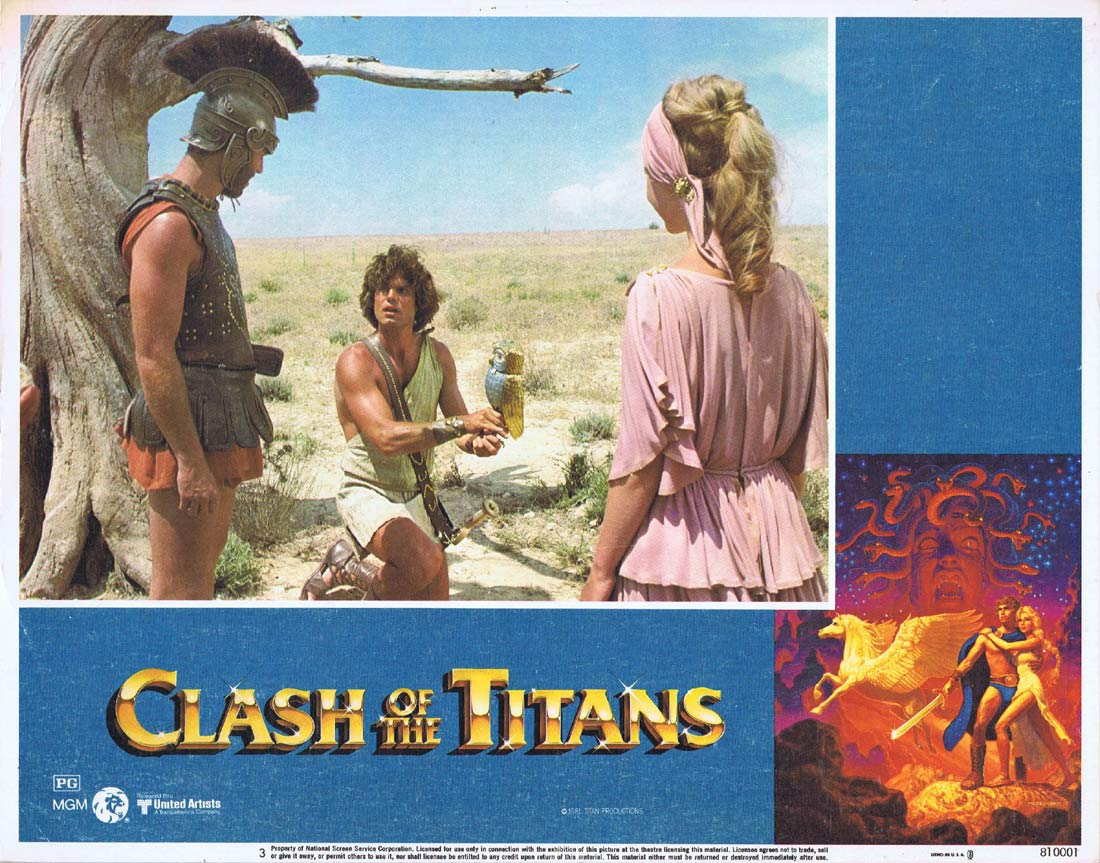 CLASH OF THE TITANS Original Lobby Card 3 Harry Hamlin Claire Bloom