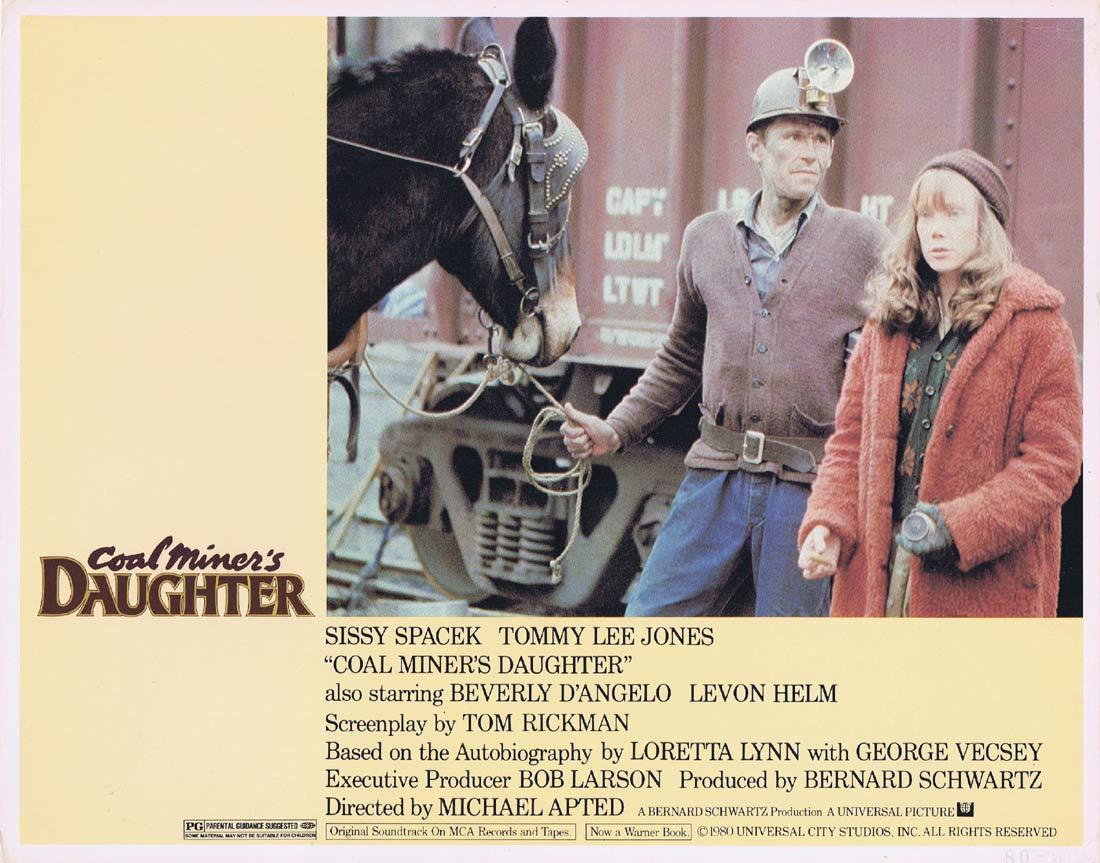 COAL MINER'S DAUGHTER Original Lobby Card 7 Sissy Spacek Tommy Lee Jones