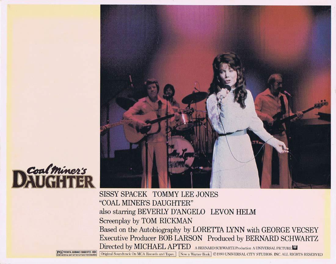 COAL MINER'S DAUGHTER Original Lobby Card 8 Sissy Spacek Tommy Lee Jones