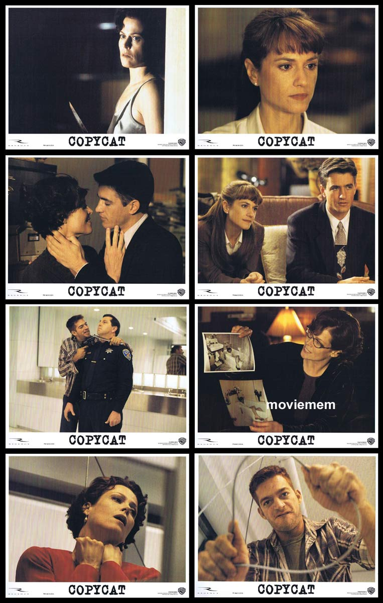 COPYCAT Original Lobby Card Set Sigourney Weaver Holly Hunter