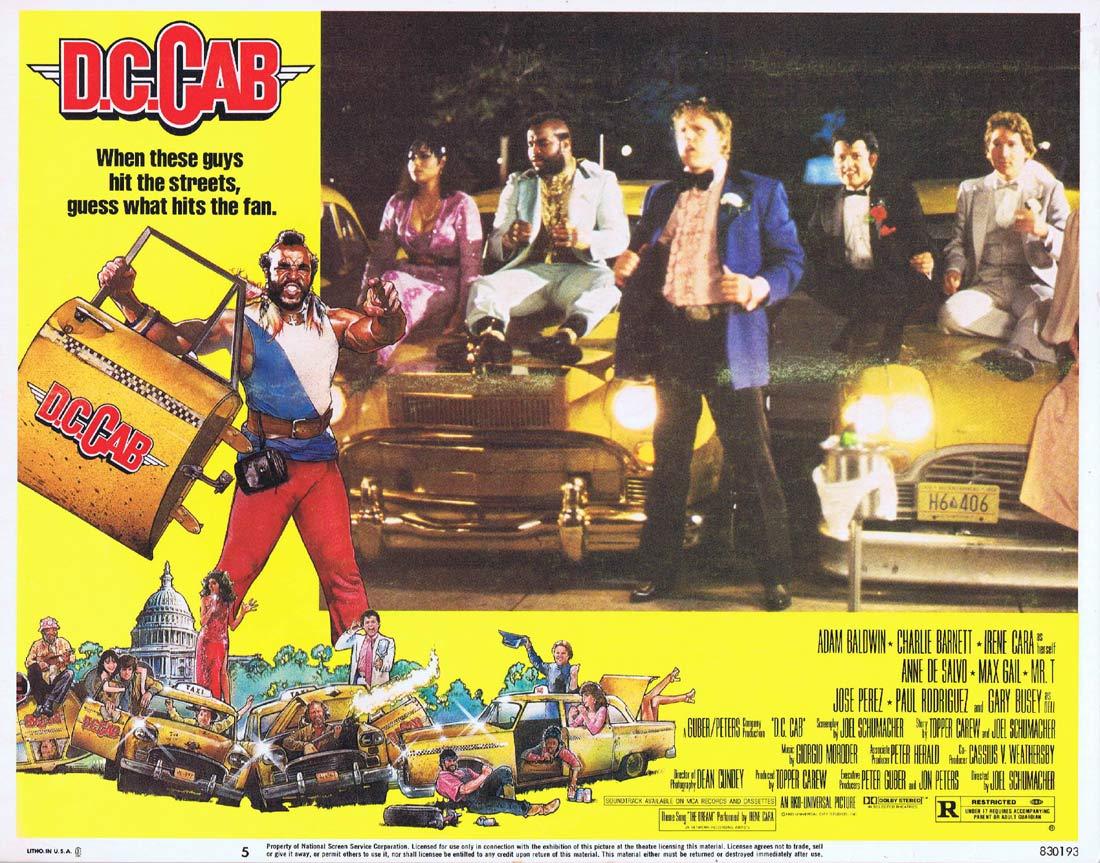 DC CAB Original Lobby Card 5Max Gail Gary Busey Adam Baldwin Mr. T