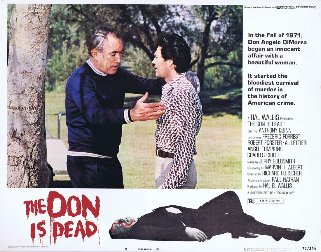 THE DON IS DEAD Original Lobby Card 8 Anthony Quinn Frederic Forrest