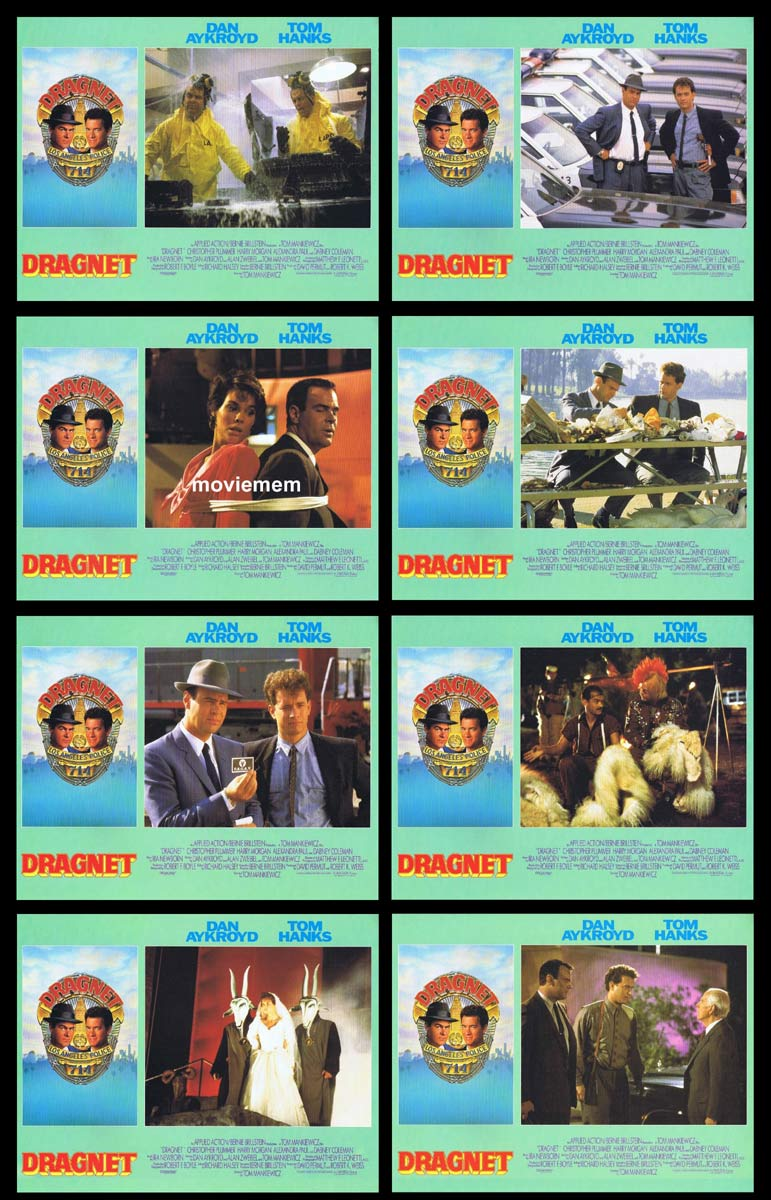 DRAGNET Original Lobby Card set Dan Aykroyd Tom Hanks