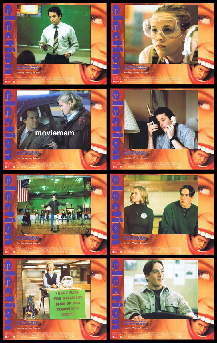 ELECTION Original Lobby Card Set Matthew Broderick Reese Witherspoon