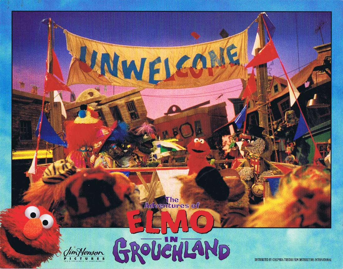 THE ADVENTURES OF ELMO IN GROUCHLAND Original Lobby Card Jim Henson