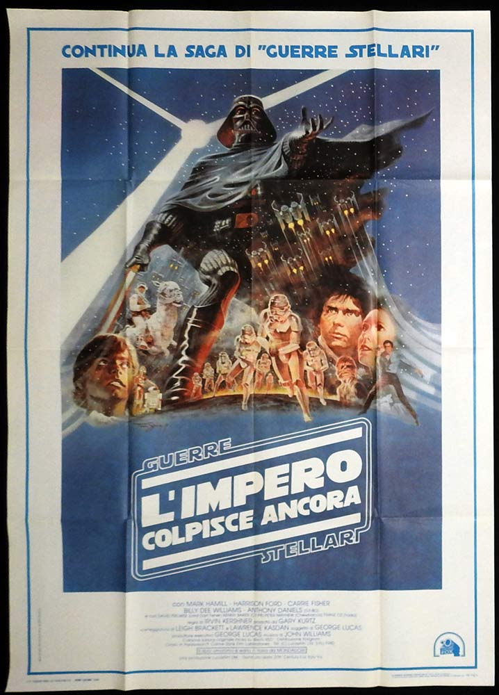 THE EMPIRE STRIKES BACK Original Italian 1p Movie Poster