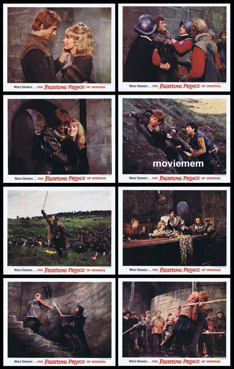 THE FIGHTING PRINCE OF DONEGAL Original Lobby Card set Peter McEnery Susan Hampshire