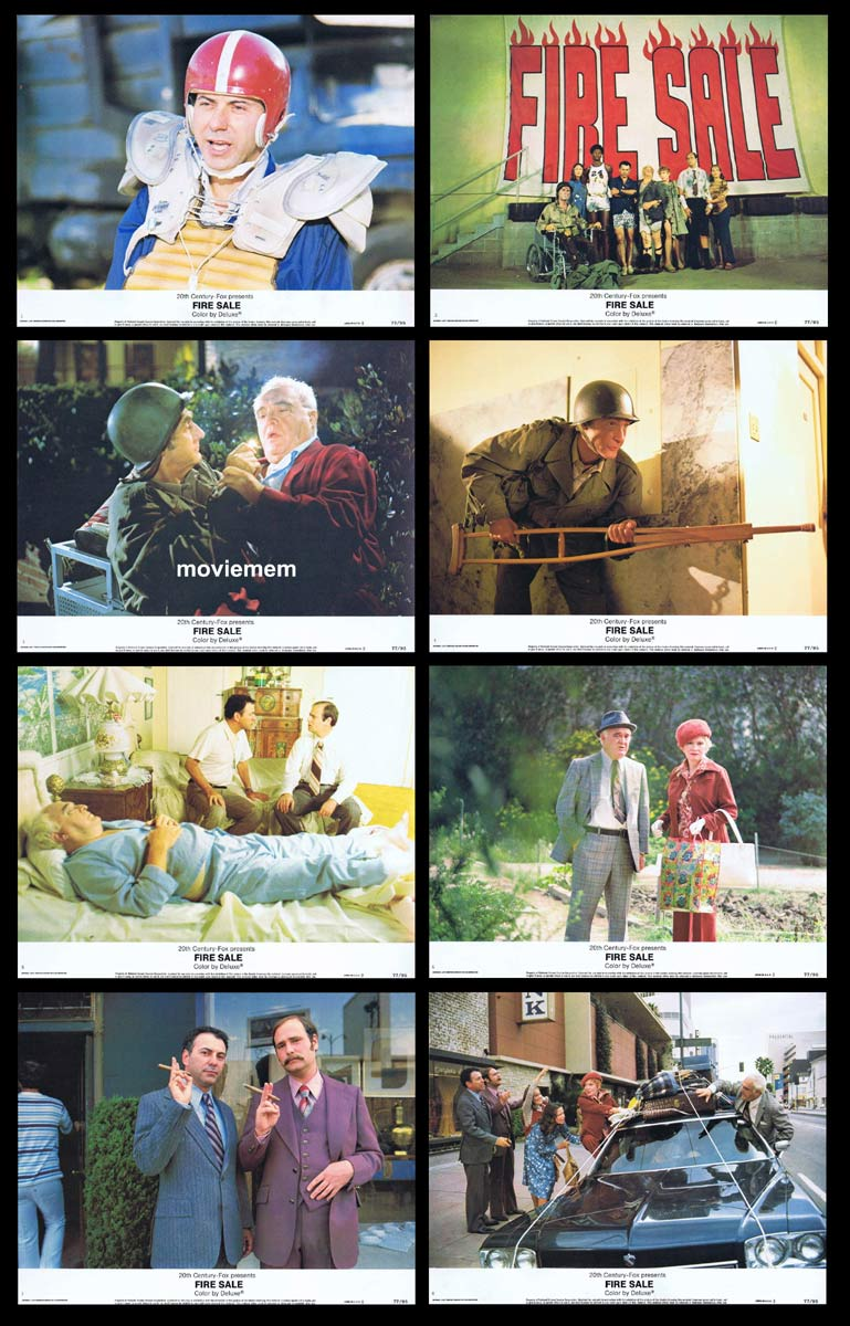 FIRE SALE Original Lobby Card Set Alan Arkin Rob Reiner Vincent Gardenia