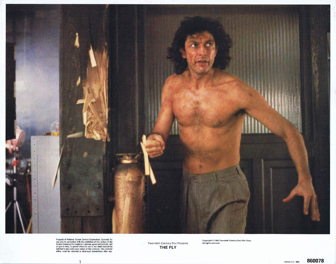 THE FLY Original Lobby Card 1 Jeff Goldblum Geena Davis David Cronenberg
