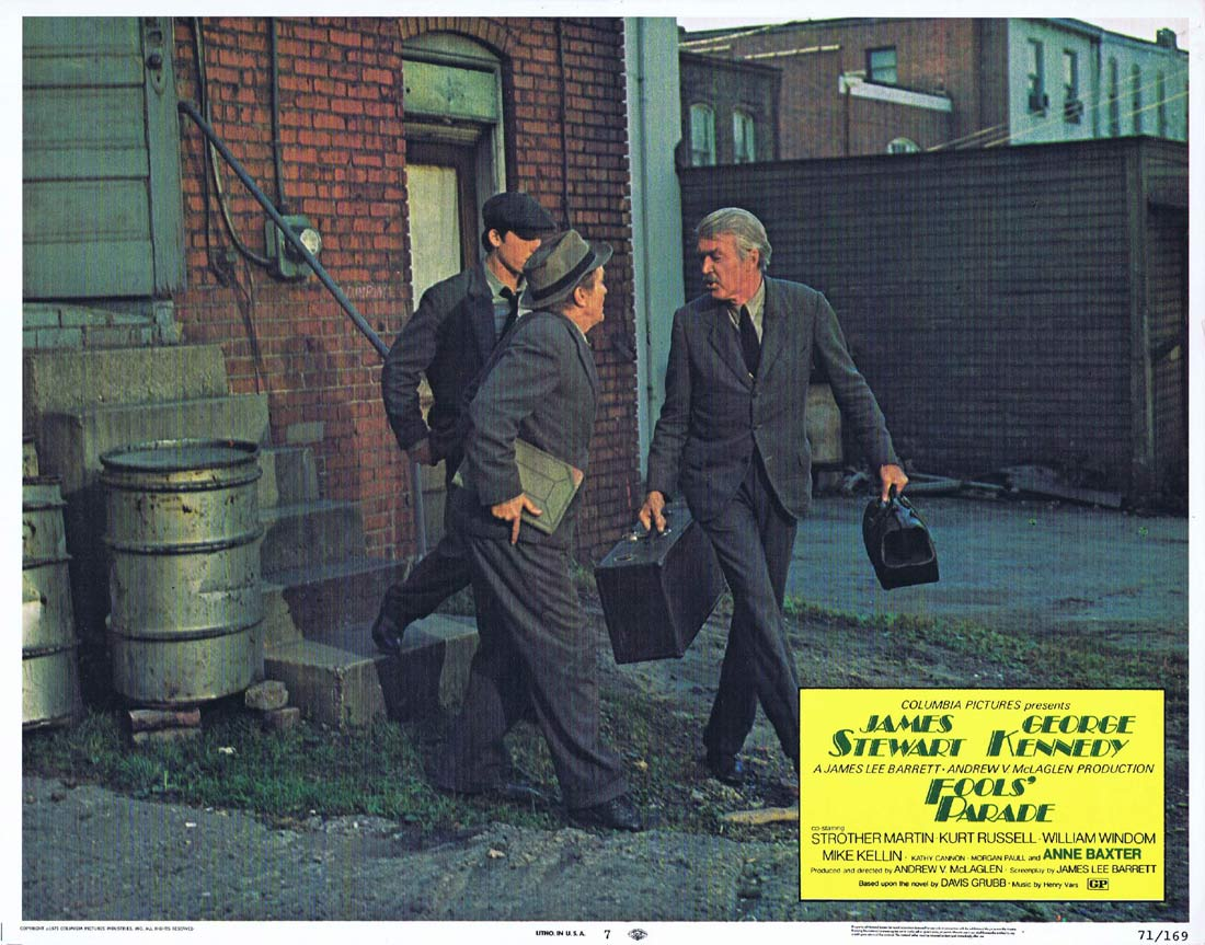 FOOLS PARADE Original Lobby Card 7 James Stewart George Kennedy