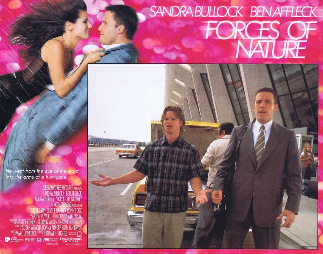 FORCES OF NATURE Original Lobby Card 6 Sandra Bullock Ben Affleck