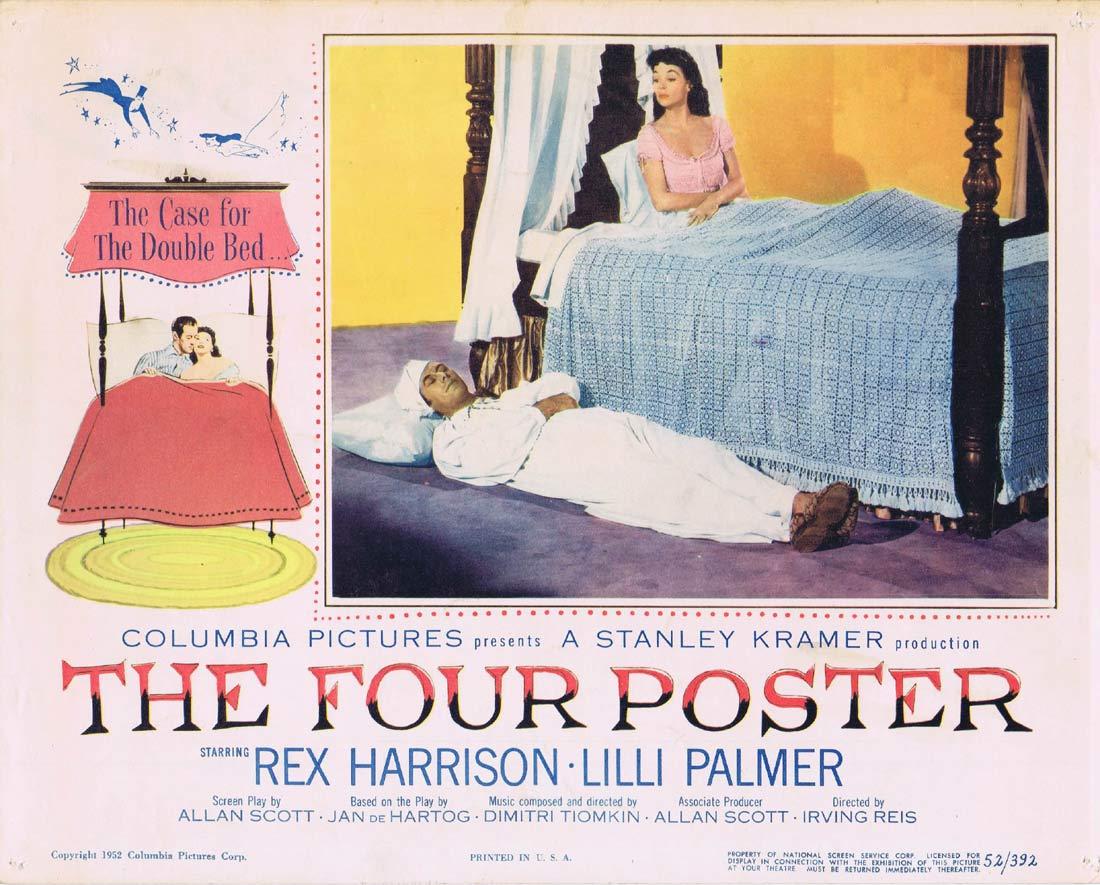 THE FOUR POSTER Original Lobby Card Rex Harrison Lilli Palmer