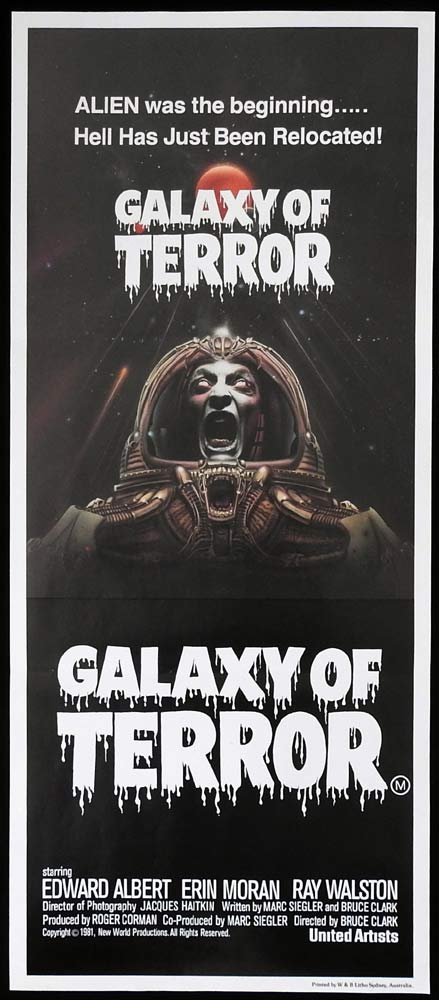GALAXY OF TERROR Original Daybill Movie Poster
