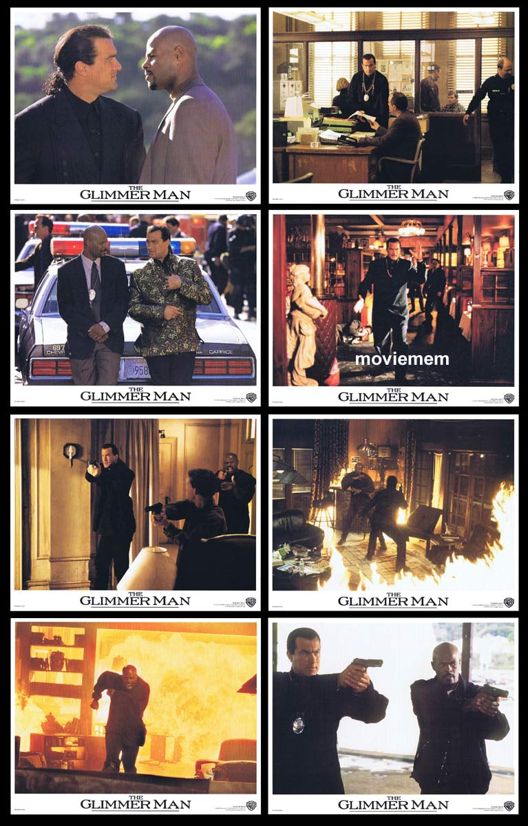 THE GLIMMER MAN Original Lobby Card Set  Steven Seagal Keenen Ivory Wayans Bob Gunton