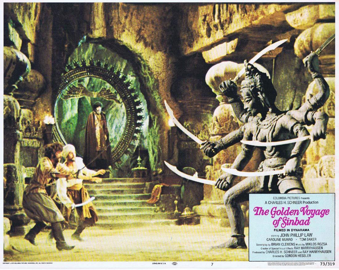 THE GOLDEN VOYAGE OF SINBAD Original Lobby Card 7 Ray Harryhausen