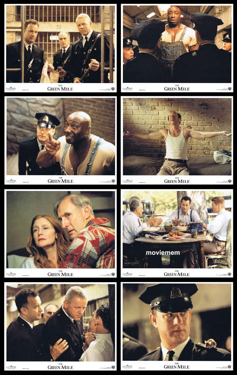 THE GREEN MILE Original Lobby Card set Tom Hanks Michael Clarke Duncan