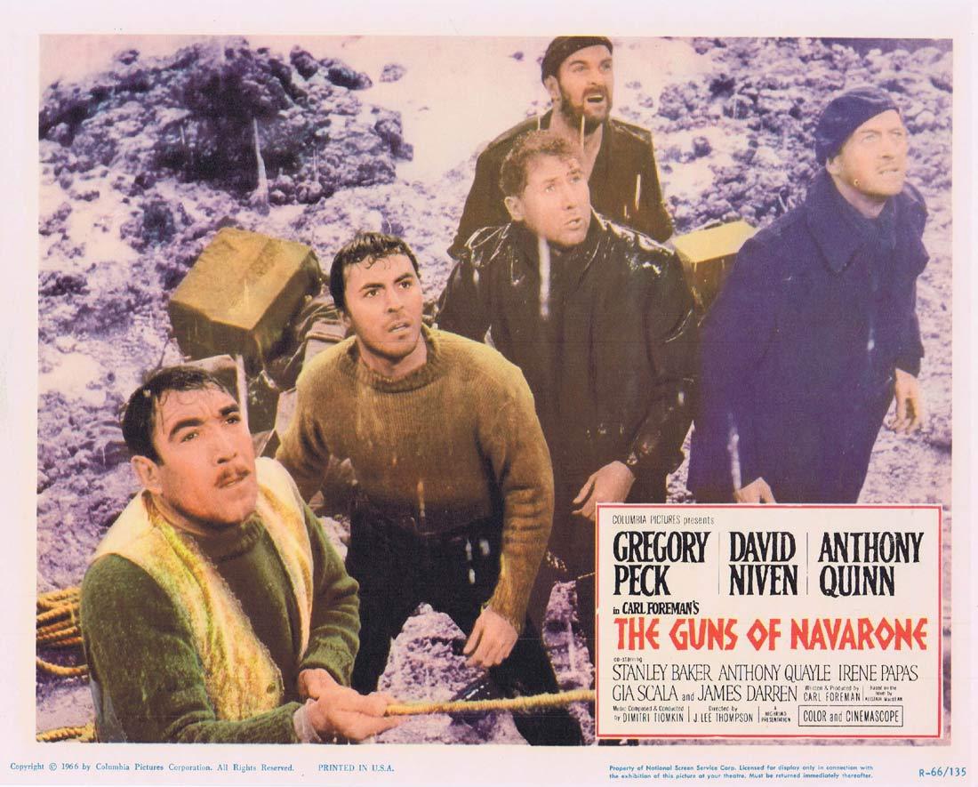 GUNS OF NAVARONE 1966r Original Lobby Card 3 Gregory Peck