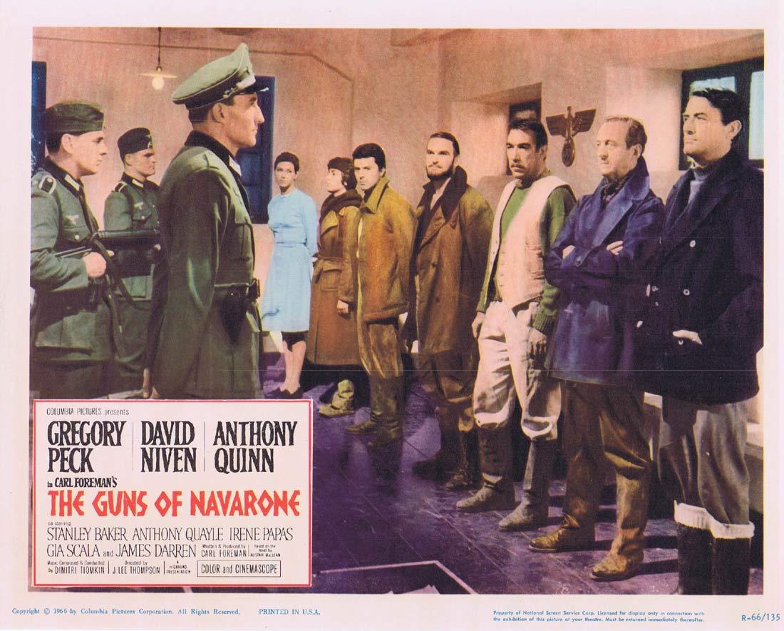 GUNS OF NAVARONE 1966r Original Lobby Card 4 Gregory Peck