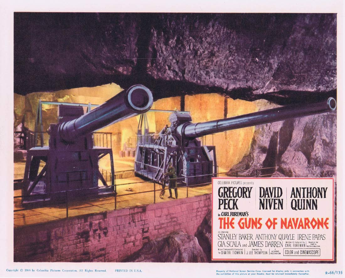 GUNS OF NAVARONE 1966r Original Lobby Card 5 Gregory Peck