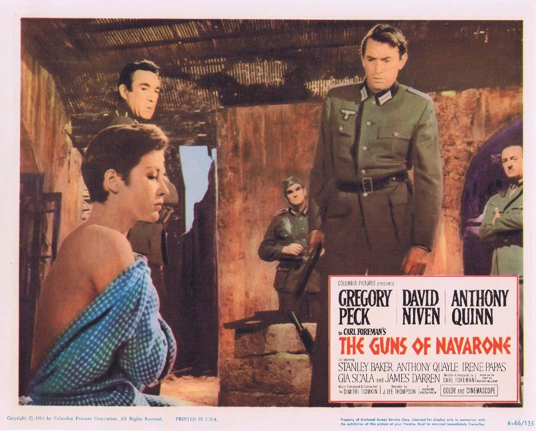 GUNS OF NAVARONE 1966r Original Lobby Card 6 Gregory Peck