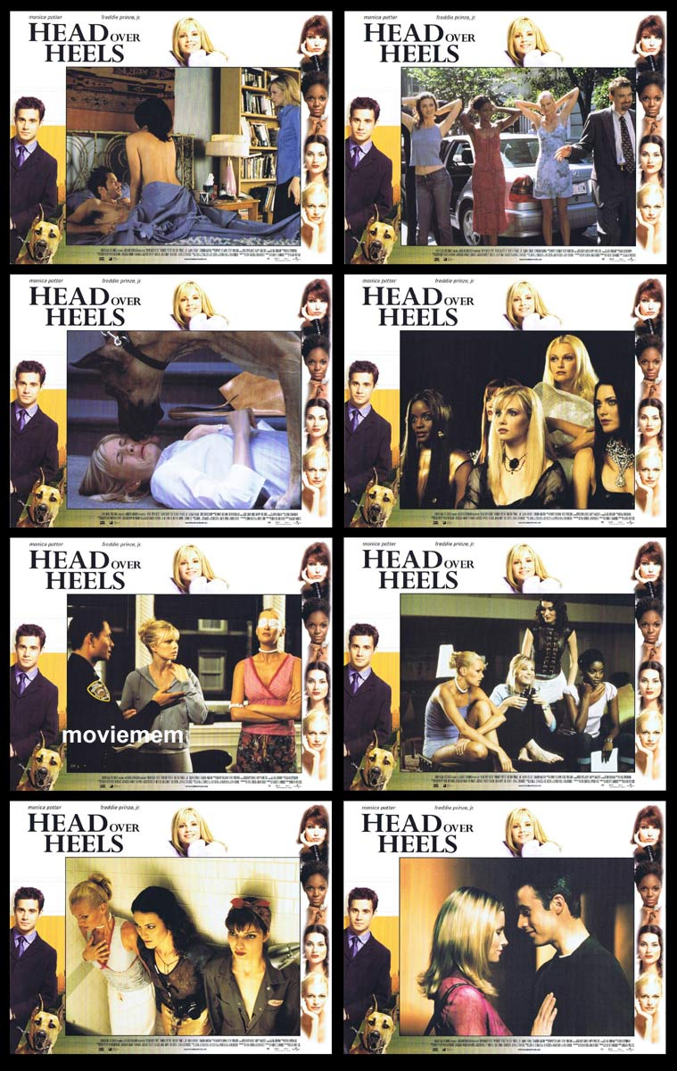 HEAD OVER HEELS Original Lobby Card Set  Monica Potter Freddie Prinze Jr. Shalom Harlow
