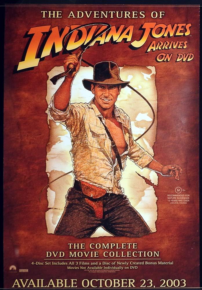 INDIANA JONES Original Australian VIDEO RELEASE Movie poster