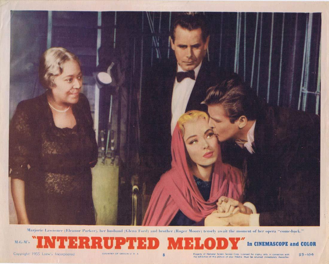 INTERRUPTED MELODY Original Lobby Card 8 Glenn Ford Eleanor Parker Roger Moore