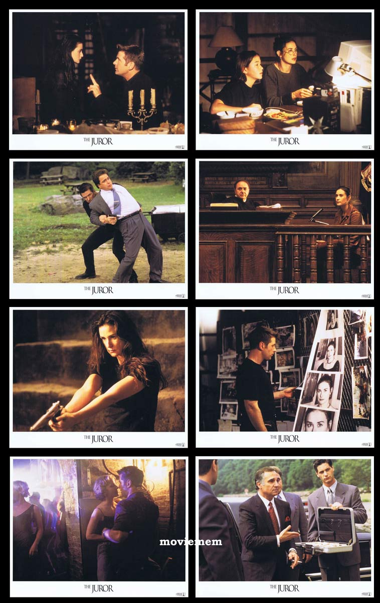 THE JUROR Original Lobby Card Set Demi Moore Alec Baldwin