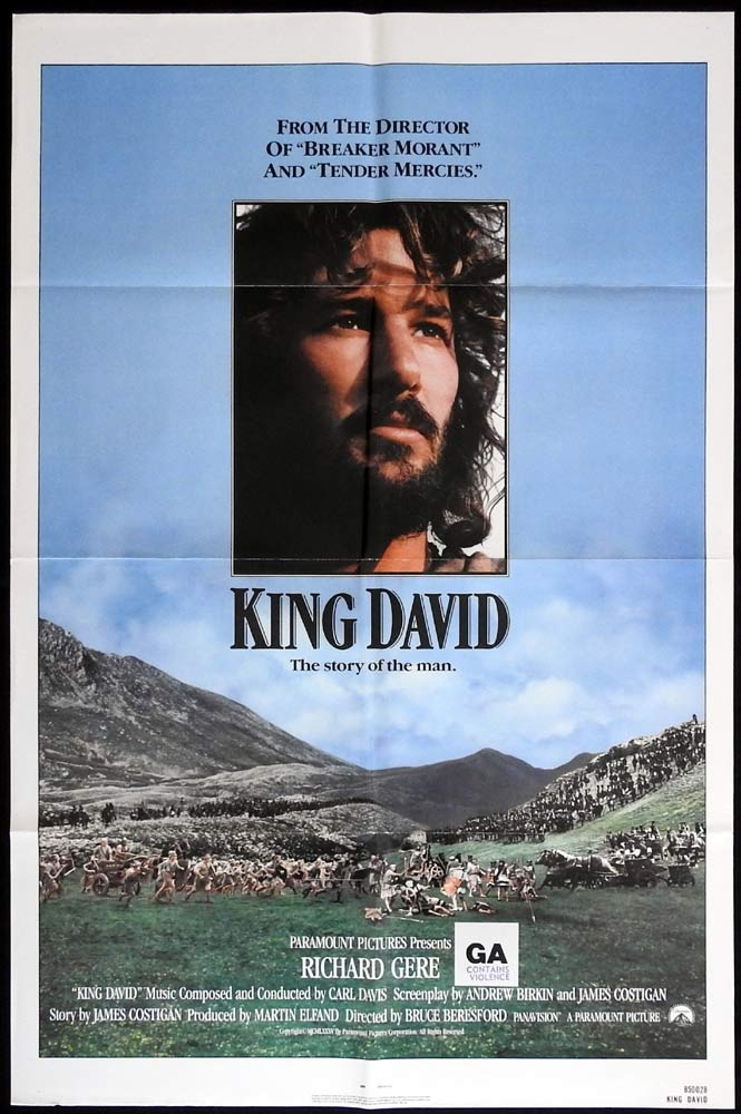KING DAVID Original One sheet Movie poster EDWARD WOODWARD Richard Gere