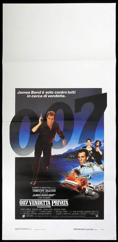 LICENCE TO KILL Italian Locandina Movie poster Timothy Dalton James Bond