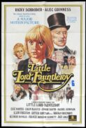 LITTLE LORD FAUNTLEROY Original One sheet Movie poster Ricky Schroeder Alec Guinness