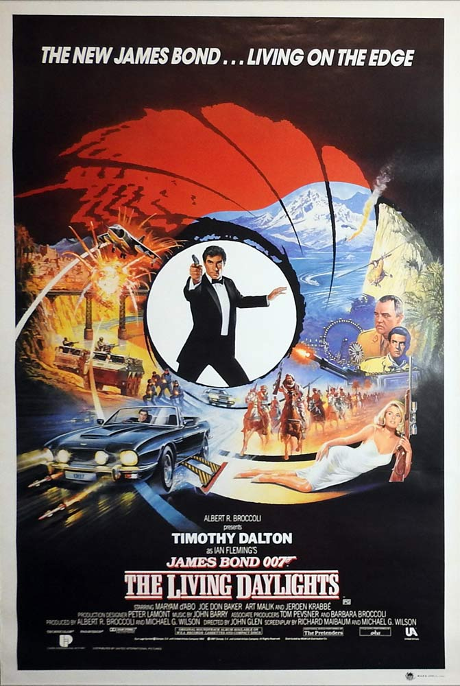 THE LIVING DAYLIGHTS Rolled Australian One sheet Movie Poster James Bond