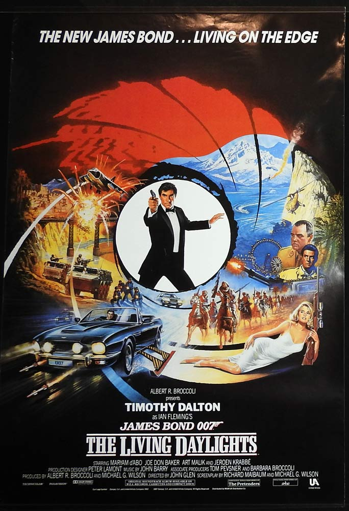 THE LIVING DAYLIGHTS Rolled International One sheet Movie Poster James Bond