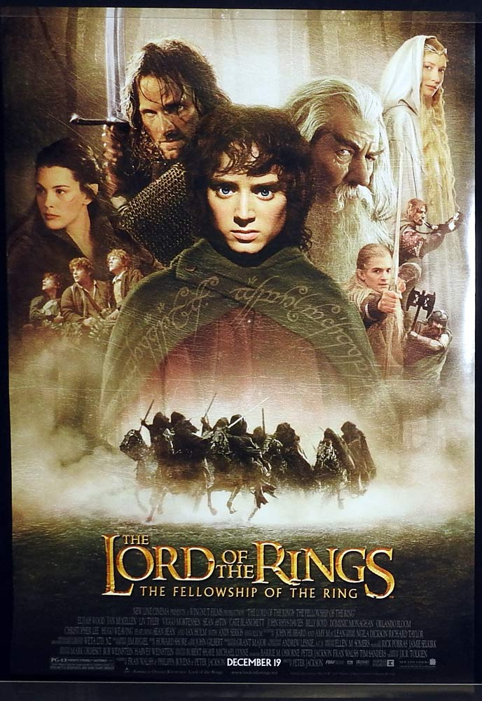 LORD OF THE RINGS Fellowship of the Ring Original Rolled US One sheet Movie Poster