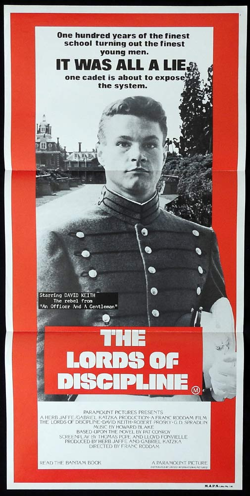 THE LORDS OF DISCIPLINE Daybill Movie poster David Keith Robert Prosky