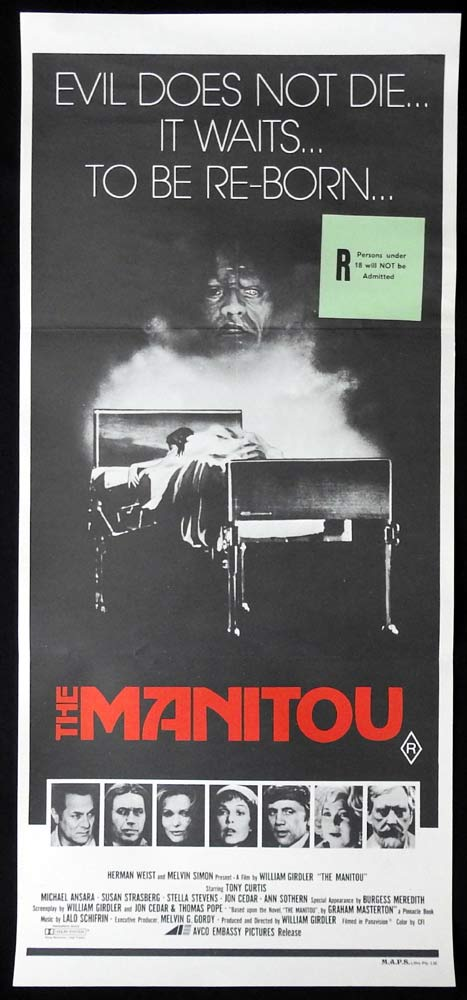 THE MANITOU Original Daybill Movie Poster Tony Curtis Michael Ansara