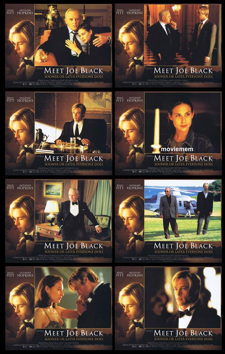 MEET JOE BLACK Original Lobby Card Set Brad Pitt Anthony Hopkins