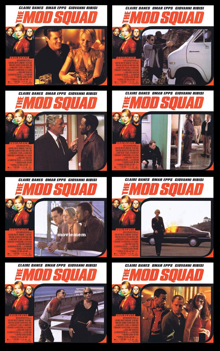 THE MOD SQUAD Original Lobby Card Set Claire Danes Giovanni Ribisi
