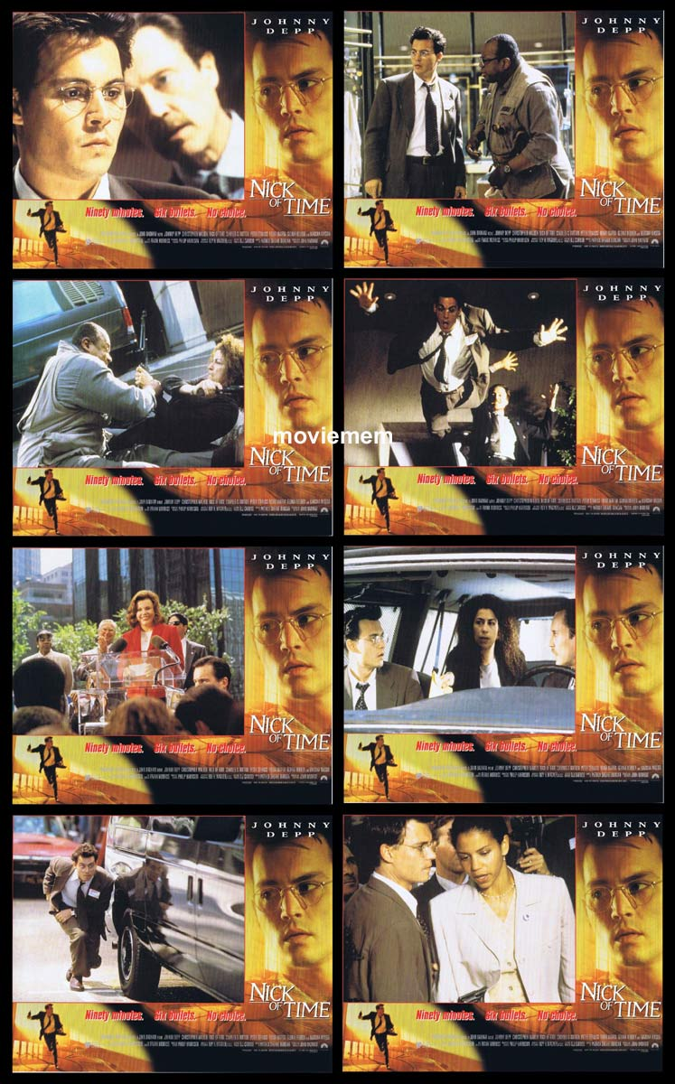 NICK OF TIME Original Lobby Card Set Johnny Depp Courtney Chase