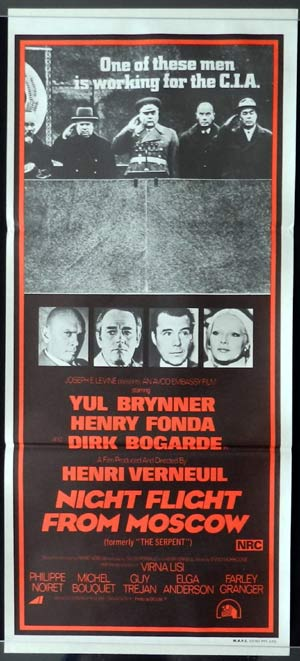 NIGHT FLIGHT FROM MOSCOW Daybill Movie poster Yul Brynner